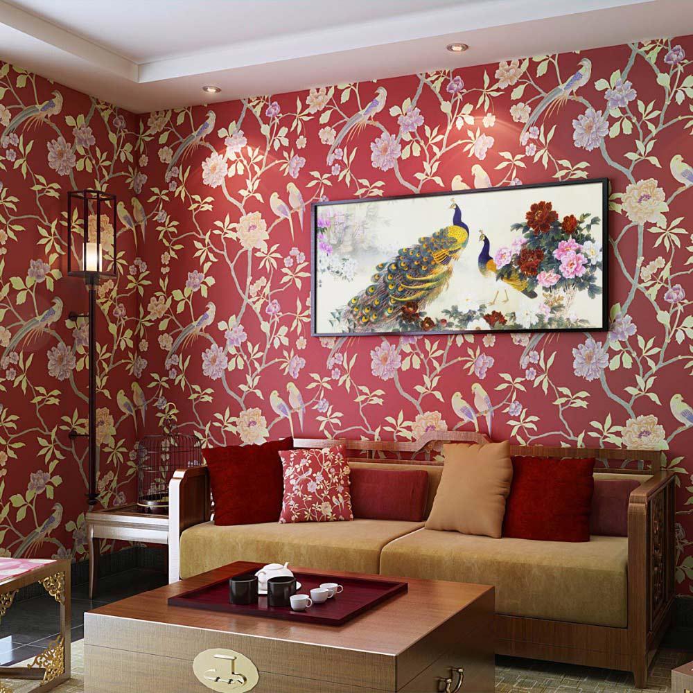 European-Vintage-Bird-Flower-Pastoral-Photo-Wallpaper-Living-Room-TV-Sofa-Backdrop-Wallpaper-Non-Woven-Home