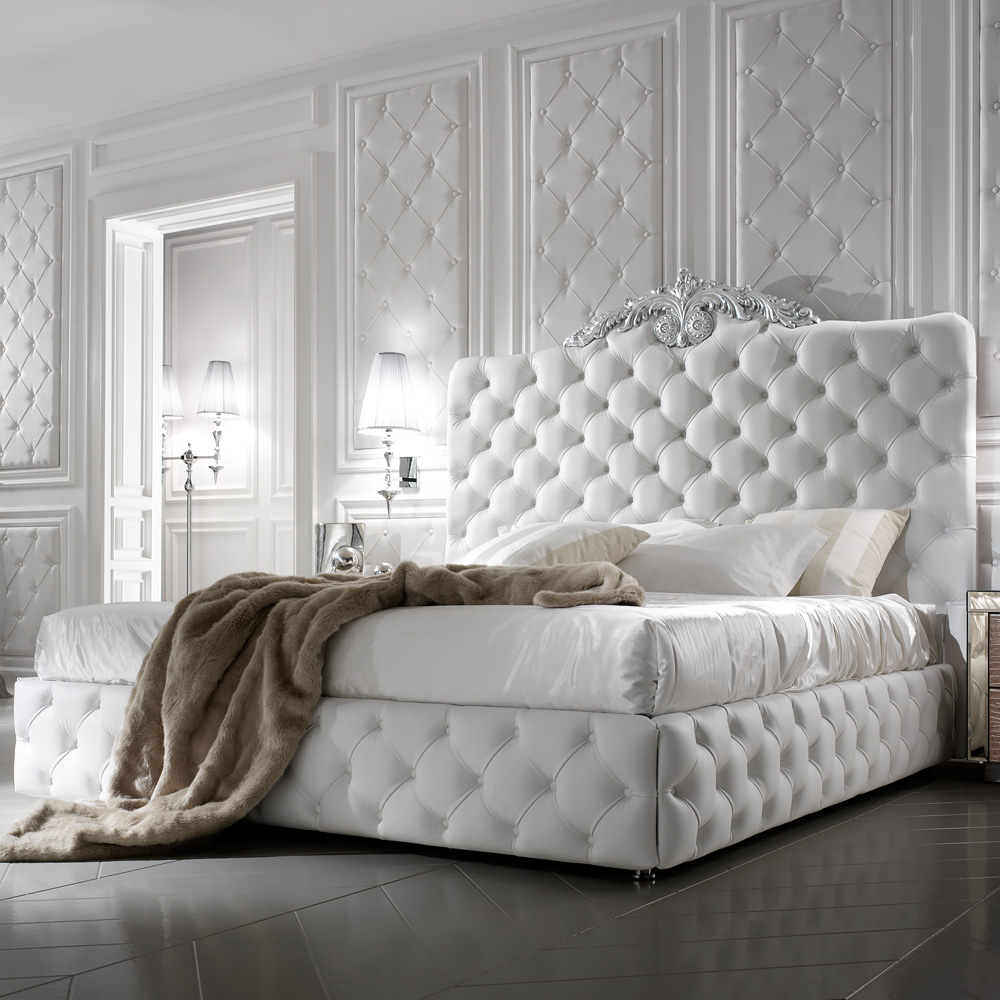 Exclusive-Luxury-Italian-White-Leather-Bed-1