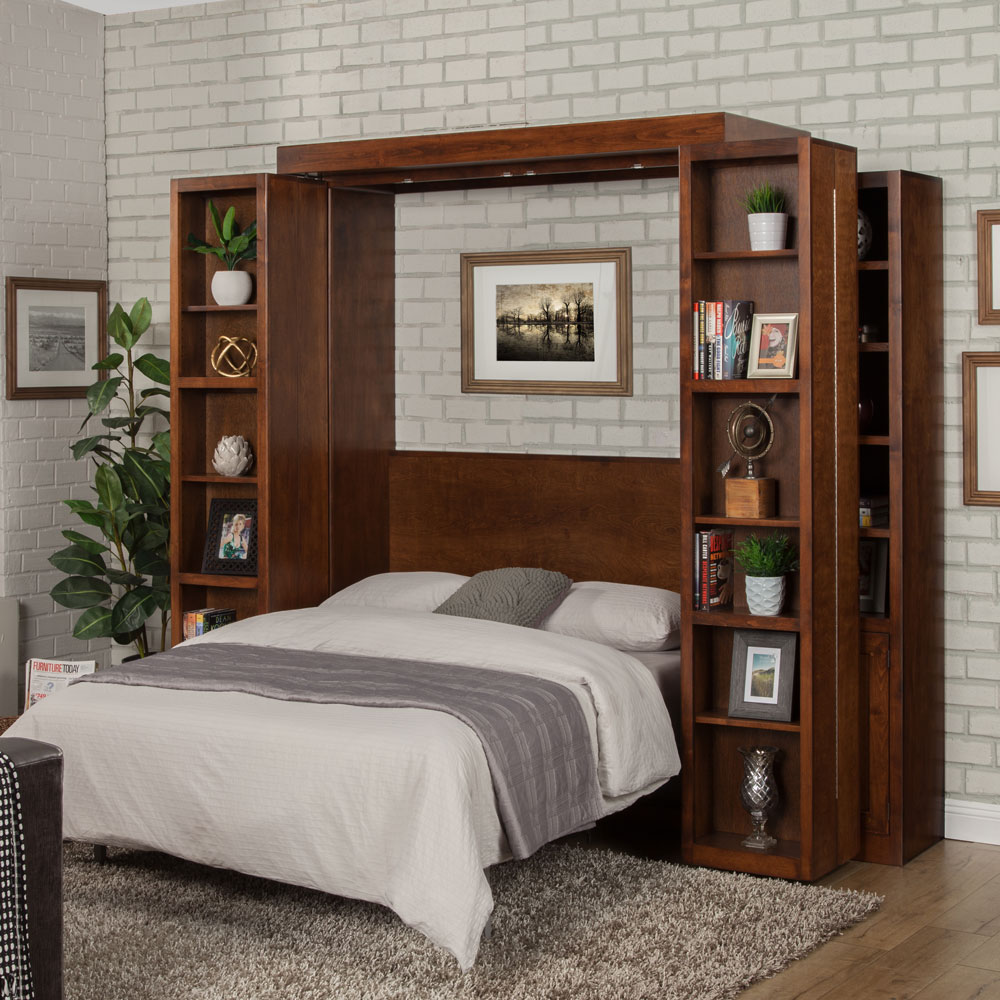 Murphy-Bed-Library-Open